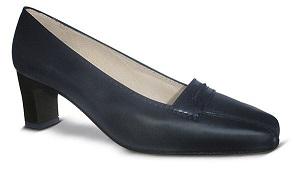 Zapato-para-Azafata-comodo-Azul modelo world-alto