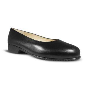 Zapato-para-Azafatas-comodos-Negro modelo Redondo