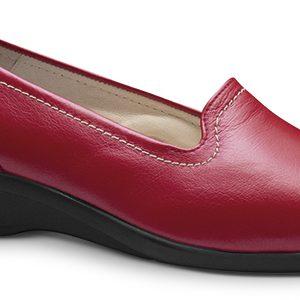zapato comodo mujer rojo