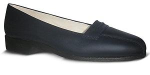 zapato-para-Azafata-comodo-Azul modelo world-bajo