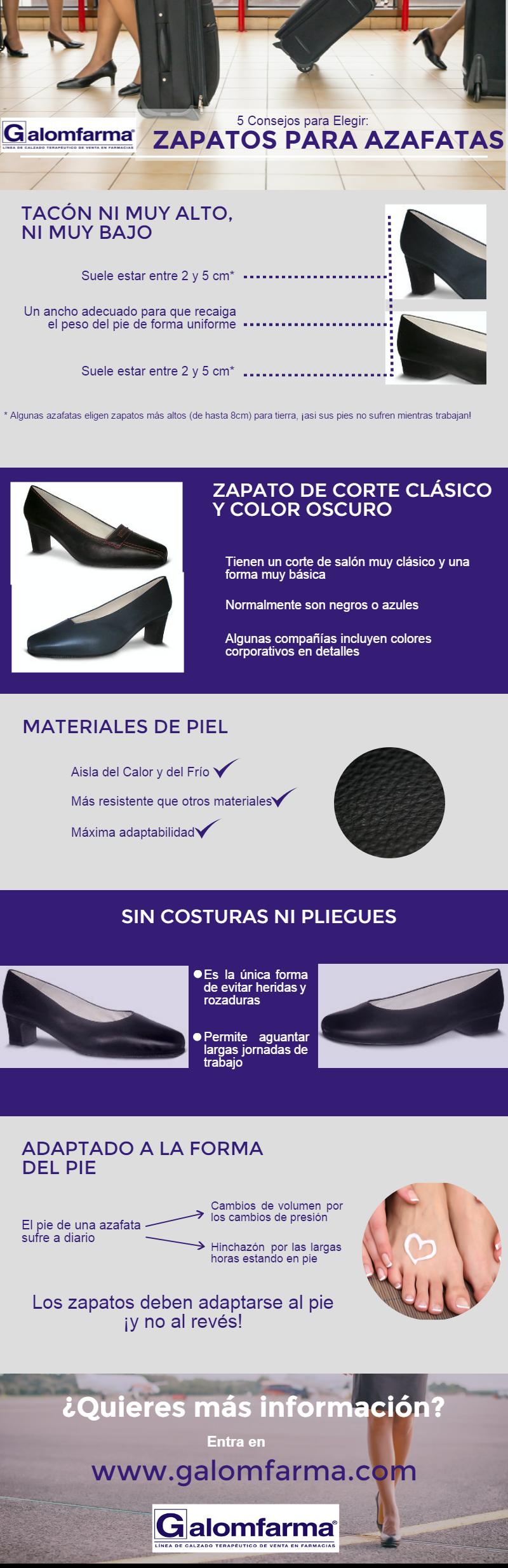 elegir zapatos de azafatas